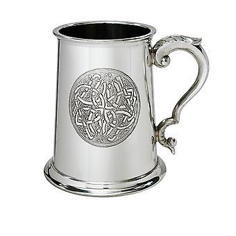 Celtic cirkel Pewter Tankard - 1 pint