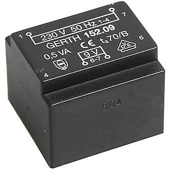 PCB mount transformator 1 x 230 V 1 x 24 V AC 0,50 VA 20 mA PT202401 Gerth