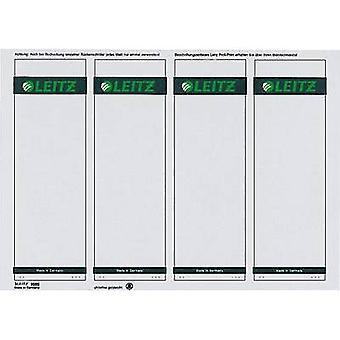 Etiquetas de archivo del arco de palanca Leitz 1685-20-85 61 x 191 mm papel gris permanente 100 PC