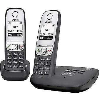 Gigaset A415A Duo DECT, GAP Cordless analogue Answerphone, Hands-free Black