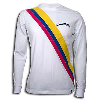 Colombia 1973 Long Sleeve Retro Shirt 100% cotton