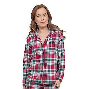 Acebo rojo Check pijama Pijama Top Cyberjammies 3854 mujeres