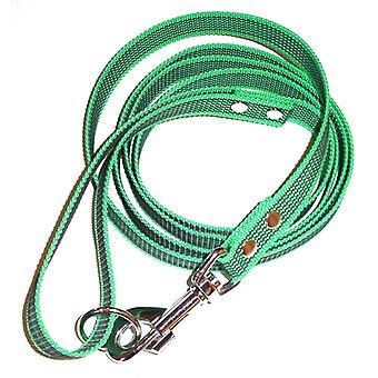 K9-Sport Super-Grip leash with handle, green
