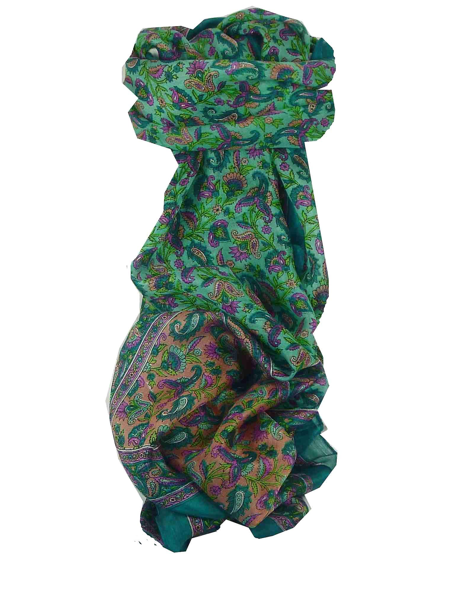 Mulberry Silk Traditional Long Scarf Cala Teal by Pashmina & Silk