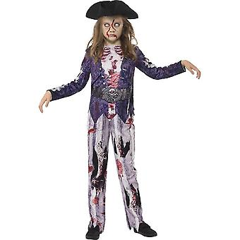 Deluxe Jolly Rotten Pirate Girl Costume, Medium Age 7-9
