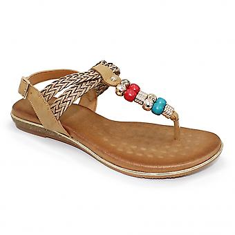 Lunar Arlo Toe Post Beaded Sandal CLEARANCE