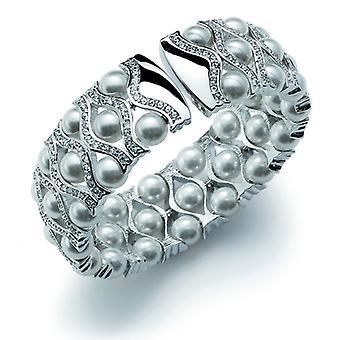 Oliver Weber Bangle Contessa Rhodium Crystal