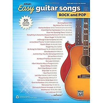 Alfreds Easy Guitar Songs Rock & Pop: 50 Hits aus über die Jahrzehnte hinweg (einfache Songs Rock & Pop)