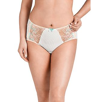 Nessa P2 Women's Helen Cream Off White Embroidered Knickers Panty Full Brief