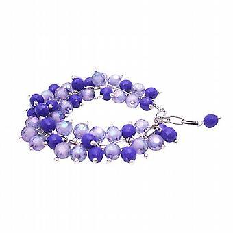 Lavender & Purple Cluster Bracelet Gorgeous Handcrafted Bracelet
