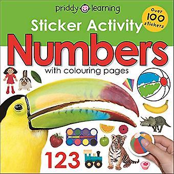 Klistermärke aktivitet nummer (tidigt lärande klistermärke aktivitet)