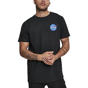 Mister t-shirt - NASA logotipo bordado preto