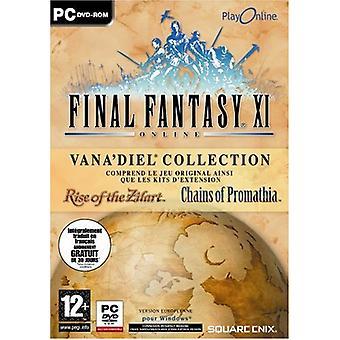 Final Fantasy XI (Inc. kedjar av Promathiand löneförhöjning av Zilart expansionspaket) (PC-CD)-Fabriksförseglat