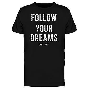 Seuraa Your Dreams Mesh aidan Tee miesten-kuva: Shutterstock