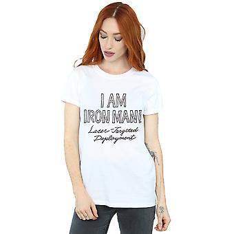 Marvel kobiet I am Iron Man chłopak Fit T-shirt
