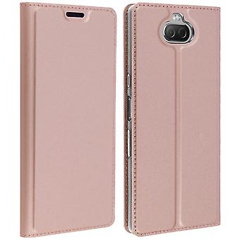 Sony Xperia 10 Storage Card Case Support Function Dux Ducis Rose Gold