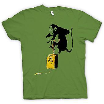 Kinder T-shirt - Banksy Graffiti - Monkey Bomber
