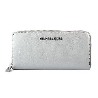 Michael Kors argent pièces plates Wallet - SILVER - 32F7MF6F2M-040