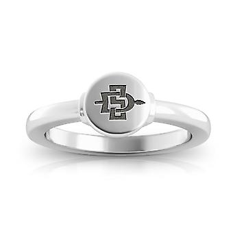 San Diego State University Ring In Sterling Silver Design by BIXLER