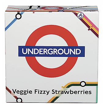 Licensed underground™ map vegan english fizzy strawberries (200g)