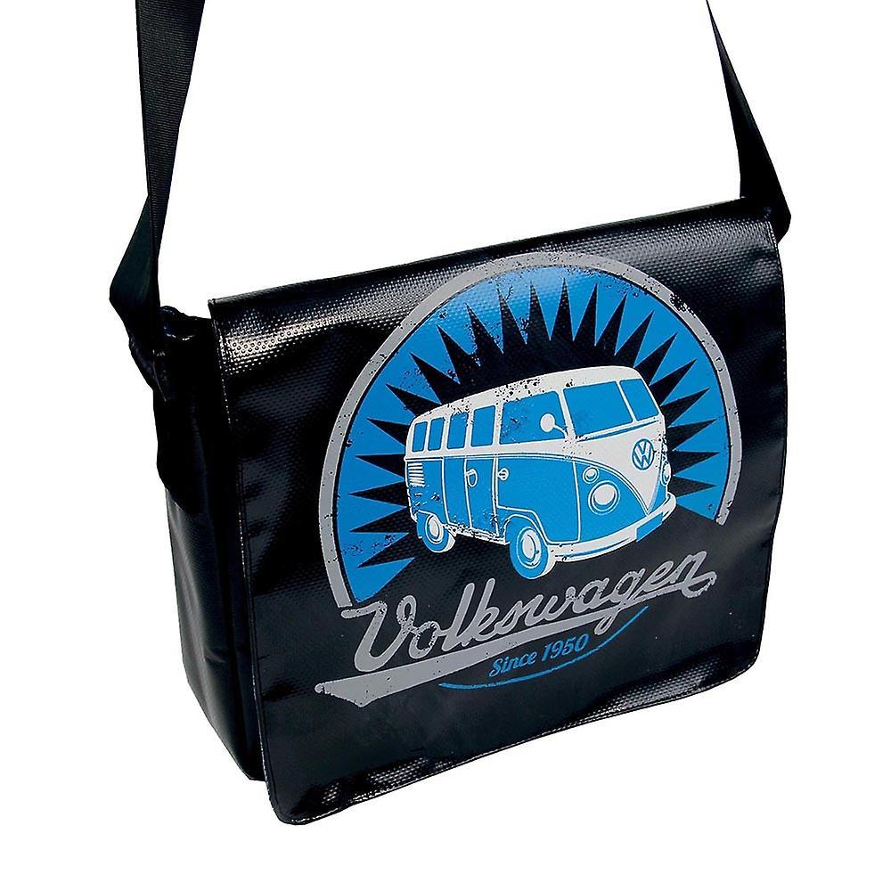 Official VW Camper Van T1 Tarpaulin Tablet Shoulder Messenger Bag - Black