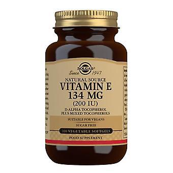 Solgar Vitamin E 134mg (200iu) Vegetarische Softgels 100 (3506)