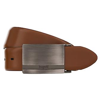 Bugatti belt leather men's belts leather belt can be shortened Cognac Brown 2706