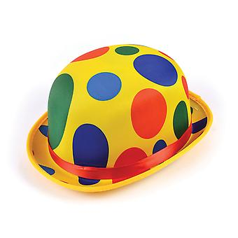 Bristol Novelty Unisex Adults Polka Dot Clown Bowler