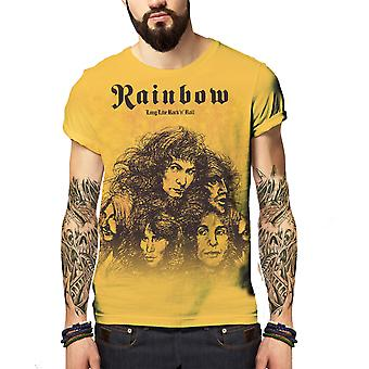 Born2rock - long live rock and roll rainbow - mens t-shirt
