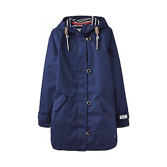 Joules Coast Mid Womens Mid Length Waterproof Jacket - French Navy