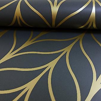 Holden Decor Holden Shimmering Geo Striped Wallpaper Art Déco Trellis Metallic 50062 Exclusif