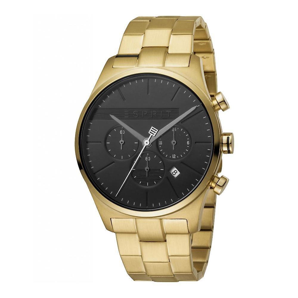 Esprit ES1G053M0065 Ease Chrono Black Gold Men's Watch Chronograph