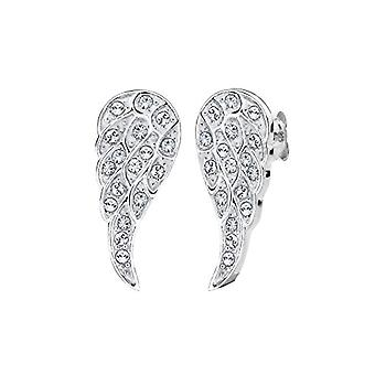 Elli - Silver earring with crystal - woman - white