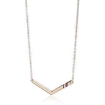 Tommy Hilfiger halsband med en tvättade stål kvinna hängande-2701079