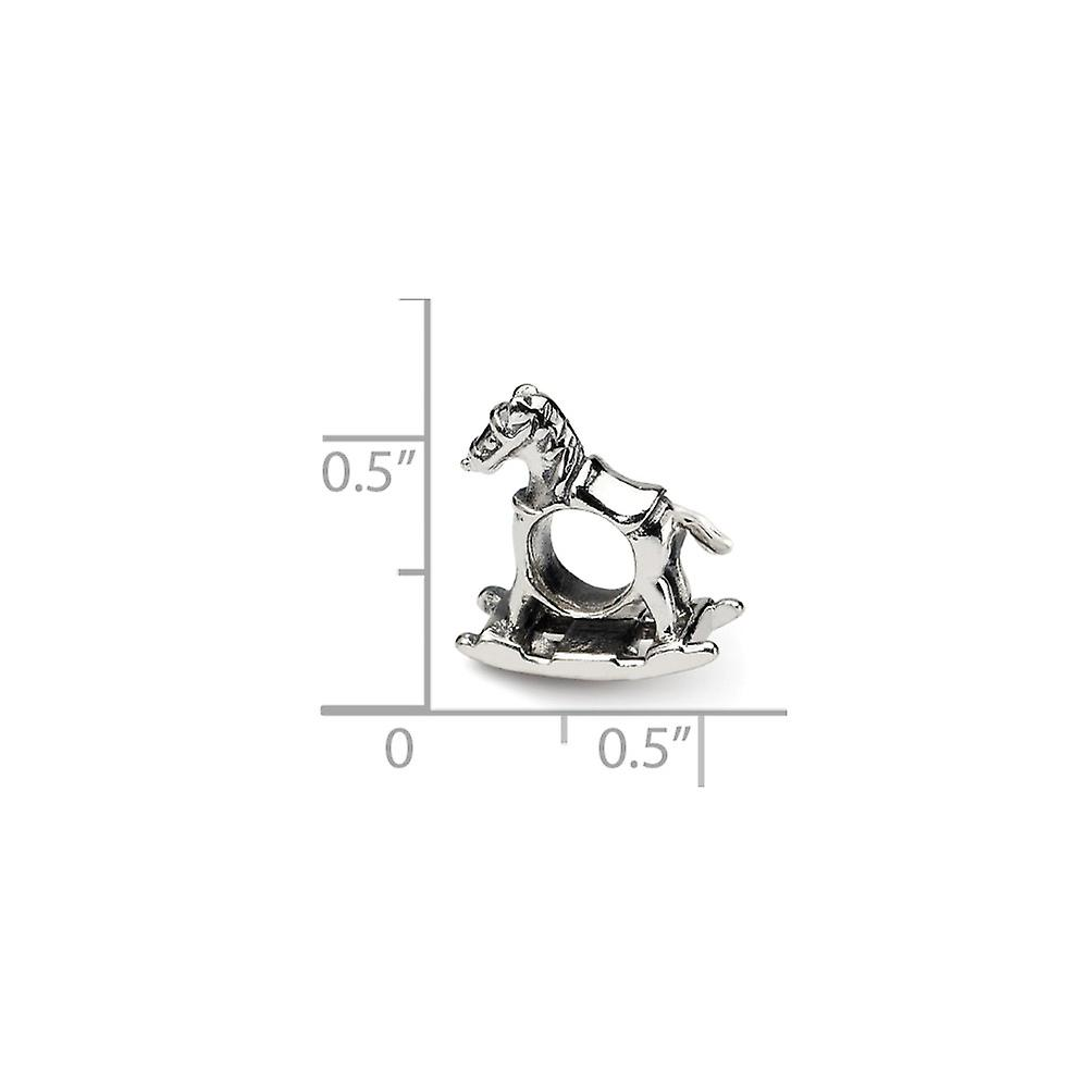 925 Sterling Silver finish Reflections Rocking Horse Bead Charm Pendant Necklace Jewelry Gifts for Women