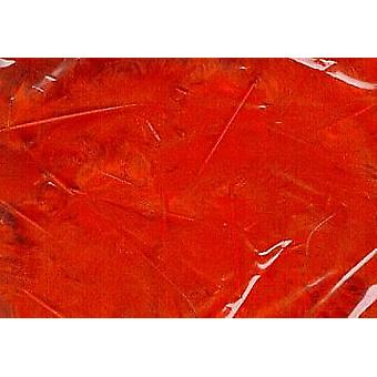 LAST FEW - 5g Red Fluffy Feathers for Crafts