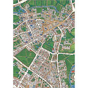 Cambridge Street Map Views Above Britain 1000 Piece Jigsaw Puzzle (jg)