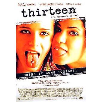 Treze (vídeo de face única) poster original do anúncio do vídeo/DVD