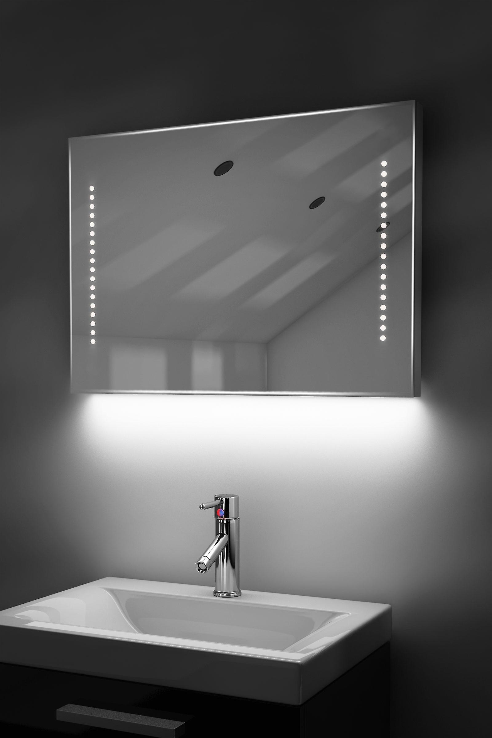 Shaver Mirror with UnderLighting, Bluetooth, Demist & Sensor k60sWaud