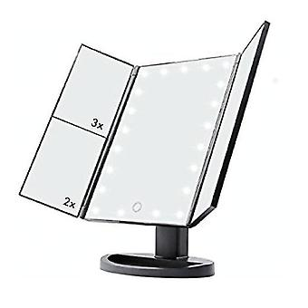 Makeup Vanity Foldout Mirror Magnifying Zoom LED