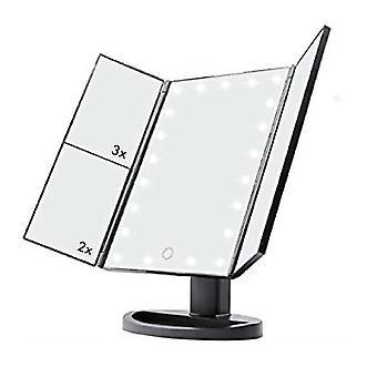 Ješitnost zrcadlové zrcadlo zvětšovací LED indikátor lupy