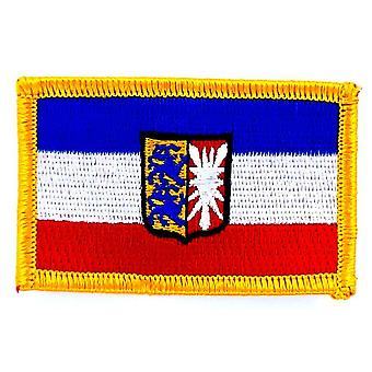 Patch Ecusson Brode Flag Schleswig-Holstein Germany Thermocollant Land