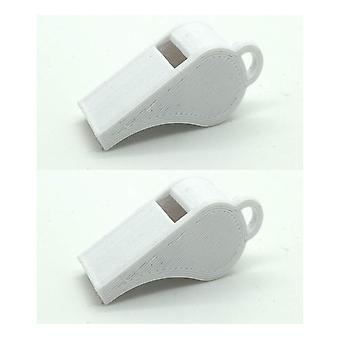Whistle 2-pack PLA plastic 118+ Db white