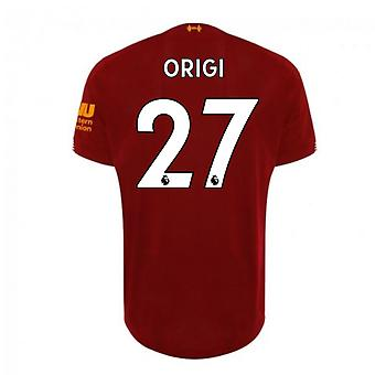 2019-2020 Liverpool Home Football Shirt (Origi 27)