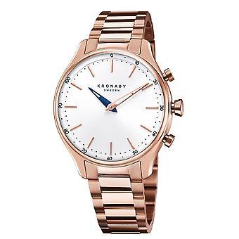 Kronaby S2747-1 المرأة & s سيكل الهجين Smartwatch روز الذهب لهجة