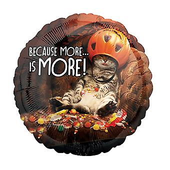 Anagram 18 Inch Candy Cat Circle Foil Balloon