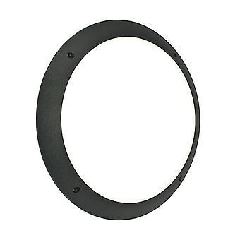 Saxby Lighting seran geïntegreerde LED 1 licht buiten muur licht mat zwart getextureerde, opaal IP65 55689