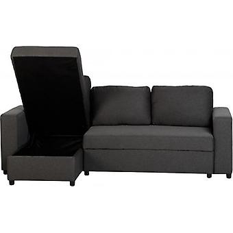Dora hoek sofa bed-grijs stof
