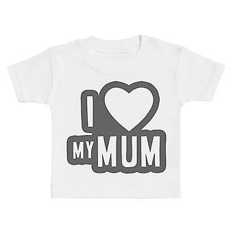 Ik hou van mijn moeder zwart overzicht Baby T-shirt
