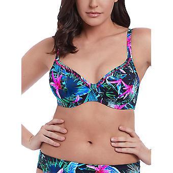 Jungle Flower Plunge Bikini Top